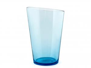 Vaso In Vetro, H26 Cm, Acquamarina
