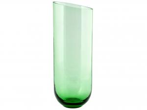 Vaso In Vetro, H37 Cm, Verde