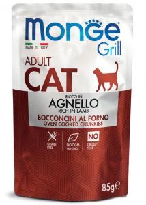 MONGE GRILL BUSTA AGNELLO PER GATTO 85gr