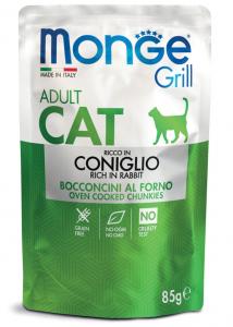 MONGE GRILL BUSTA CONIGLIO PER GATTO 85gr
