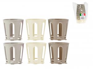 Set 6 Supporti Pervbicchiere Plastica