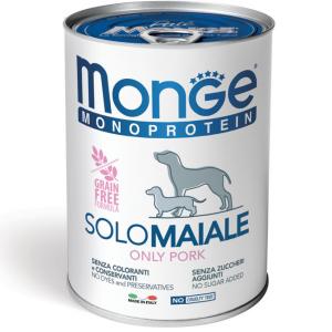 MONGE MONOPROTEICO SOLO MAIALE PATE' PER CANE 400GR