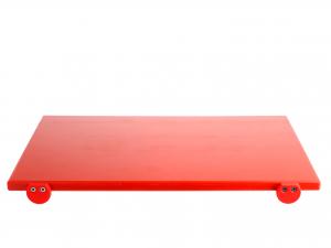Tagliere In Polietilenerosso Con Battente 60x40x2