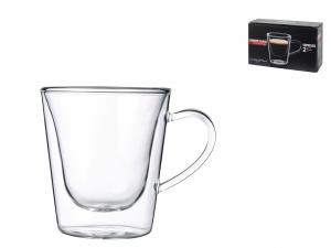 Confezione 2 Caffe' Senza Piatto In Borosilicato Duos