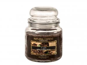 Nature Candle Candela Profumata Caffe', 100% Cera Vegetale,