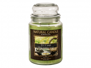 Nature Candle Candela Profumata Te' Verde, 100% Cera Vegetal