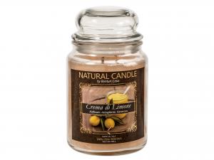 Nature Candle Candela Profumata Crema Limone, 100% Cera Vege