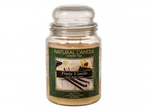 Nature Candle Candela Profumatafruity Vanilla, 100% Cera Veg