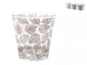Confezione 3 Bicchieri In Vetro Michelle Conica