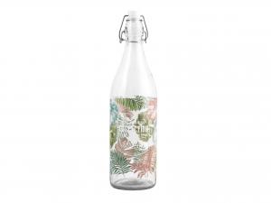 Bottiglia Vetro Dec Foglie Lt1