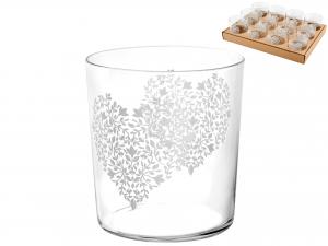 Vassoio 12 Bicchieri Vetro Starck Amour Cc350