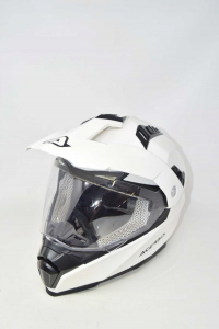Helmet Motorcycle Acerbis Size .xl 61 / 62 Cm White With Bag