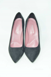 Pointed-toe Pump Woman Pittarello N° 39 New Black With Hearts Red / Blue