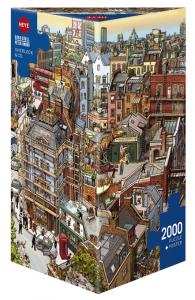 Heye 29753-Triangular puzzle 2000 pz Sherlock & co