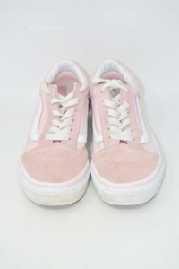 Scarpe Bambina Vans N 33 Rosa Bianco