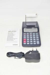 Calcolatrice Scrivente Casio Hr-8tec Con Alimentatore E Istruzioni