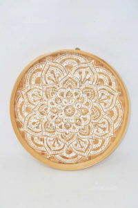 Wooden Plate Decorated To Hang 29 Cm