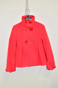 Coat Red Baby Girl Benetton 10 / 11a