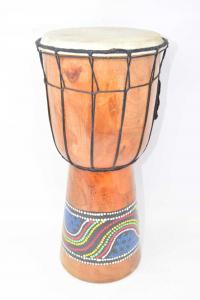 Drum Wood African Height 40 Cm
