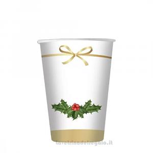 8 pz - Bicchieri Christmas Chic Natale - Party tavola