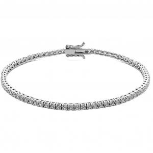 Bracciale uomo tennis con zirconi bianchi Comete in argento 925 UBR994 M19