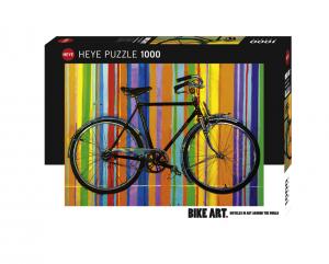 Heye 29541-Bike Art Puzzle 1000 pz Libertà Deluxe