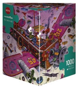 Heye 29887-Triangular puzzle 1000 pz Fly with me
