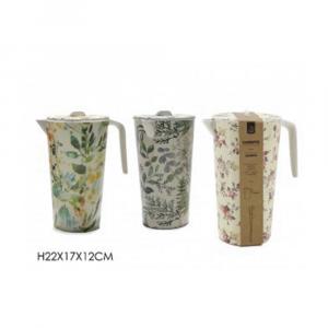 Caraffa Con Coperchio e Manico 22x17x12 Cm Pratica Disponibile In Vari Temi Casa Cucina Per Bevande