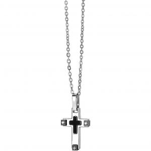 Collana uomo in acciaio con ciondolo croce Comete Basic UGL707