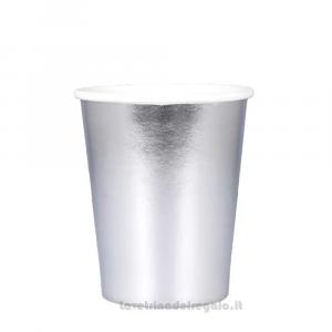8 pz - Bicchieri Argento di carta - Party tavola
