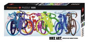Heye 29737-Bike Art puzzle 1000 pz Colourful Row