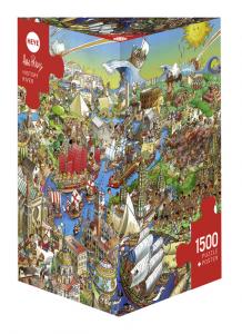 Heye 29890-Triangular puzzle 1500 pz History River