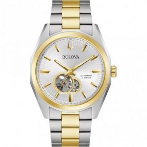 Bulova Surveyor, orologio meccanico automatico quadrante argento e oro