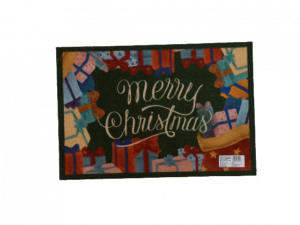 Brandani, zerbino tappeto antiscivolo Natale 58x39