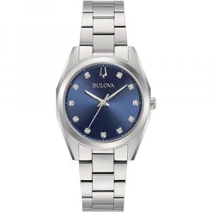 Bulova Surveyor, orologio donna quadrante blu madreperla diamanti