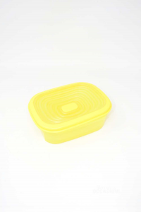Container Tupperware Yellow With Grid 20x14