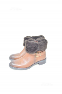 Ankle Boot Woman Donianna Brown With Fur N°.38