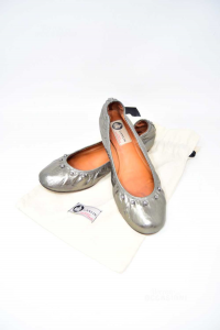 Dancers Woman Lanvin Paris Gray With Studs N° 36 1 / 2 Made In Portugal