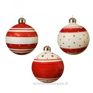 Pallina Christmas Red per l'Albero Modelli Assortiti 8 cm - Natale