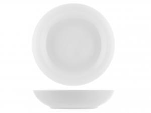 6 Piatti In Porcellana Oslo Bianco Tavola Fondo 20,5