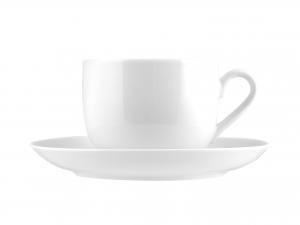 6 Tazze Te' Con Piatto In Porcellana Oslo Bianco 0,18