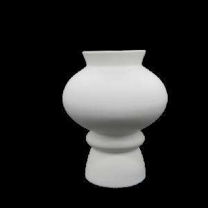 Mascagni vaso ceramica bianca e celeste cm33