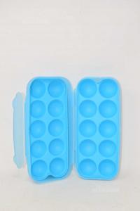 Tupperware Container Light Blue Per Eggs 24x8x10 Cm