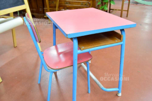 Banco Kindergarden With Chair Red Blue