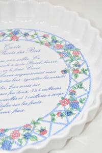 Tortiera In Ceramica Con Disegno More 30 Cm