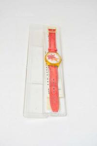 Orologio Swatch Floreale S449 Con Batteria ( Cinturino Da Cambiare )
