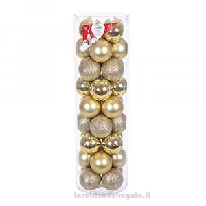 36 pz - Palline decorative Mix Oro per l'Albero 6 cm - Natale