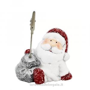 6 pz - Portafoto Memo Clip Babbo Natale in ceramica 7x5x10 cm - Natale