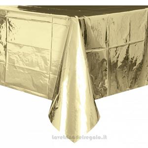 Tovaglia Oro 50° Anniversario Nozze in plastica 137x274 cm - Party tavola
