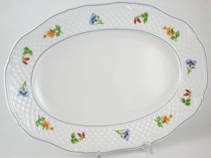 Piatto In Porcellana Manico Teresa Lmk1621 Ovale 33